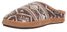 Woolrich Women's Whitecap Knit Mule Slip On Slipper.