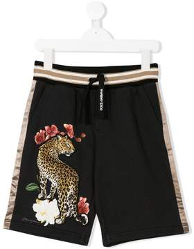 Dolce & Gabbana leopard applique shorts