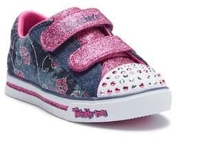 Skechers Sparkle Glitz Denim Daisy Sneaker (Toddler)
