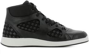 Bottega Veneta Men's Black Leather Sneakers.