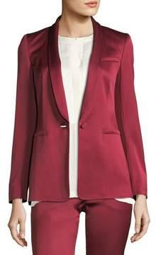 Escada One-Button Shawl-Collar Duchess Satin Blazer