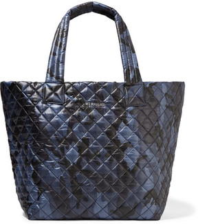 MZ Wallace - Metro Camouflage-print Quilted Shell Tote - Storm blue