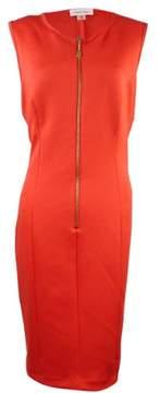 Calvin Klein Women's Zip Scuba Knit Sheath Dress