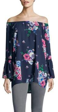 Context Bell-Sleeve Floral Top