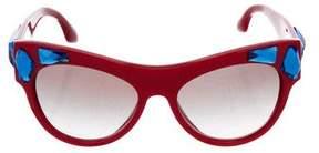 Prada Jewel-Embellished Tinted Sunglasses
