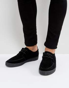 Fred Perry Shields Suede Crepe Sneakers in Black