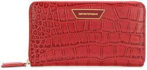 Emporio Armani crocodile effect zipped wallet