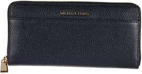 Michael Kors Leather Zip Around Wallet - ADMIRAL - STYLE