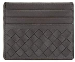 Bottega Veneta Intrecciato Leather Cardholder - Womens - Silver