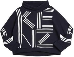 Kenzo Rubberized Print Cotton Sweatshirt