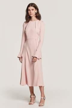 Yahvi Pink Midi Dress