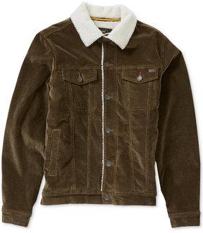 Billabong Men's Corduroy Faux Sherpa Jacket