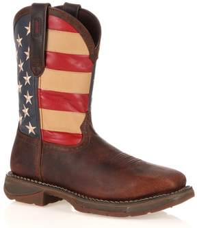 Durango Workin' Rebel American Flag Steel-Toe Western Boots