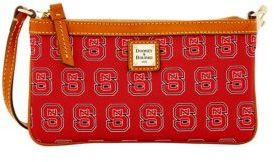 Dooney & Bourke NC State Wolfpack Large Slim Wristlet - RED - STYLE