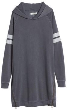 Treasure & Bond Girl's Hooded Fleece Sweatshirt Dress