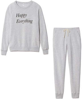 Alternative Apparel Happy Everything Holiday Bundle in Eco Oatmeal, Small