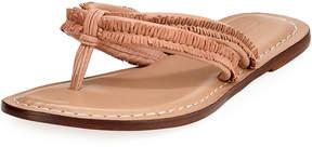 Bernardo Miami Fringe Leather Sandals, Blush