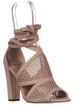 Call it SPRING Rounkles Peep Toe Anke-strap Sandals, Bone.