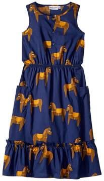 Mini Rodini Horse Woven Flounce Dress Girl's Dress
