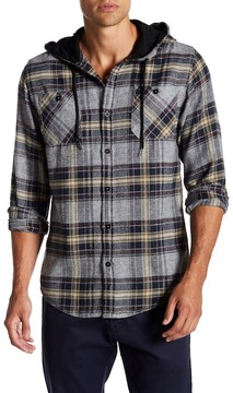 Burnside Plaid Hooded Flannel