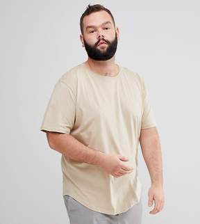 ONLY & SONS PLUS Longline T-Shirt With Curved Hem