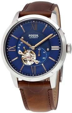Fossil Townsman Automatic Blue Satin Dial Men's Watch
