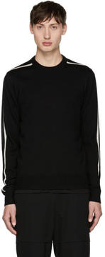 Comme des Garcons Black Contrast Stripe Sweater