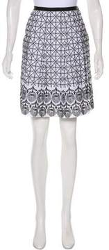 T Tahari Embroidered Knee-Length Skirt