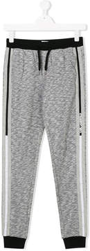 Karl Lagerfeld TEEN contrasting strap jogging trousers