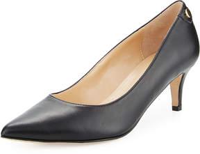 Neiman Marcus Stroll Leather Slip-On Pump, Black