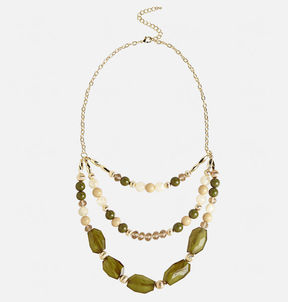Avenue Layered Olive Necklace