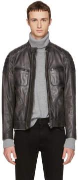 Belstaff Grey Leather Weybridge Jacket