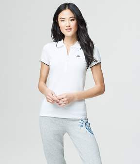 Aeropostale A87 Solid Single-Tipped Pique Polo