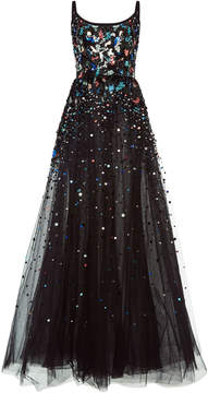 Elie Saab Sequin Embroidered Tulle Gown