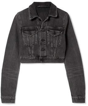Alexander Wang Cropped Denim Jacket - Charcoal