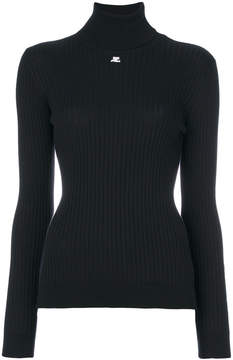 Courreges ribbed roll-neck jumper
