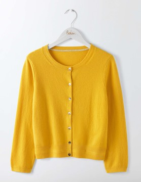 Boden Cashmere Crew Neck Cropped Cardigan