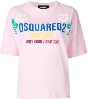 DSQUARED2 Only Good Vibrations logo T-shirt