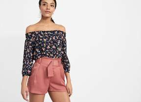 Dynamite Off-The-Shoulder Top With Tie