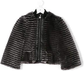 Armani Junior faux fur bomber jacket