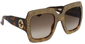 Gucci Fashion Inspired Brown Gradient Square Ladies Sunglasses GG0048S-002 54