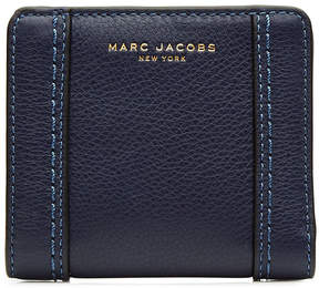 Marc Jacobs Snapped Leather Wallet - BLUE - STYLE