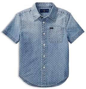 Polo Ralph Lauren Boys' Short-Sleeve Chambray Shirt - Little Kid