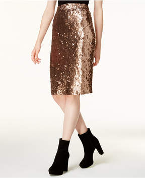 Bar III Sequined Pencil Skirt, Created for Macy's