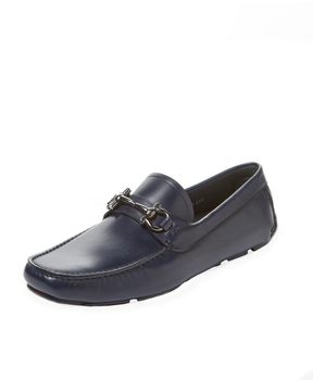 Salvatore Ferragamo Men's Moc Toe Leather Loafer