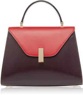 Valextra Iside Medium Two-Tone Leather Shoulder Bag