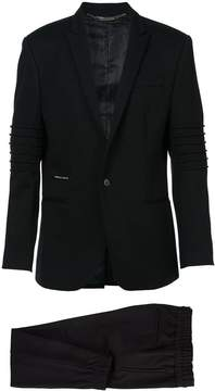 Philipp Plein Ribbed Sleeve Suit with Jogger Pant