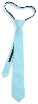 Nordstrom Boy's Solid Cotton Zipper Tie