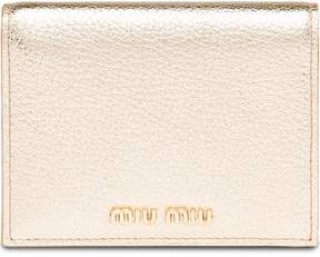 Miu Miu logo plaque billfold wallet