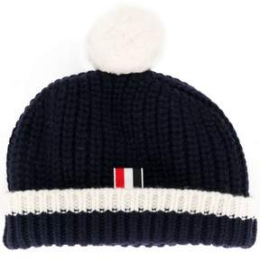 Thom Browne ribbed bobble hat